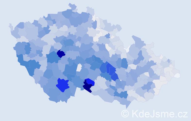 Příjmení: 'Kadlecová', počet výskytů 6472 v celé ČR