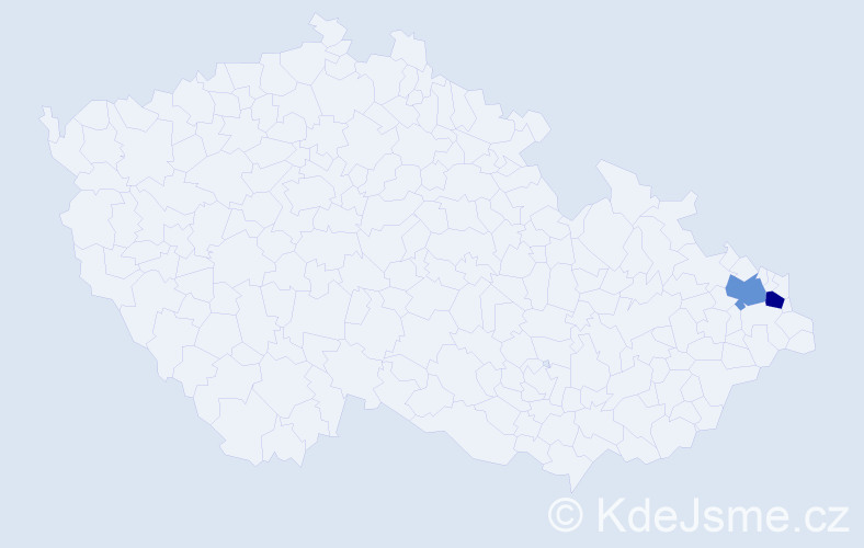 Příjmení: 'Červenčíková', počet výskytů 2 v celé ČR