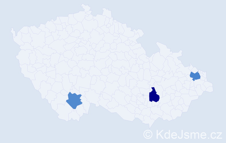 Příjmení: 'Hauber', počet výskytů 4 v celé ČR