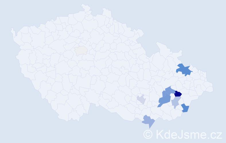 Příjmení: 'Bia', počet výskytů 28 v celé ČR