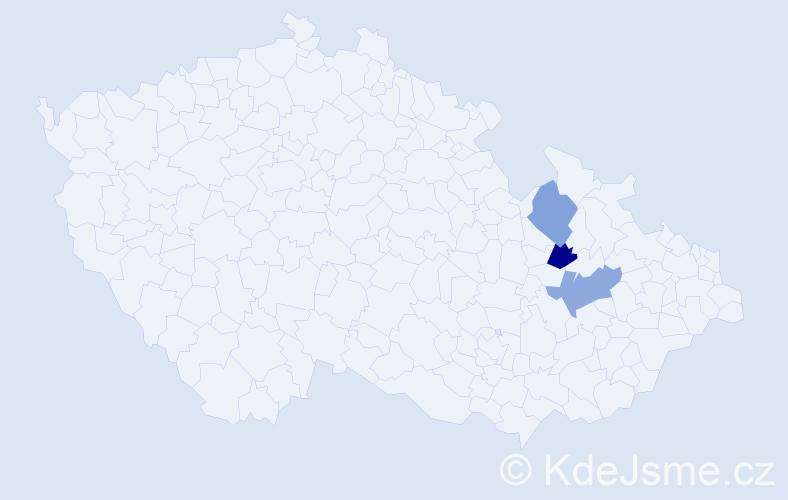 Příjmení: 'Cejtchamlová', počet výskytů 11 v celé ČR