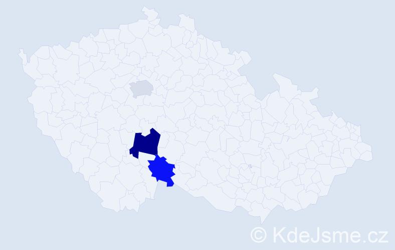 Příjmení: 'Gorušková', počet výskytů 4 v celé ČR