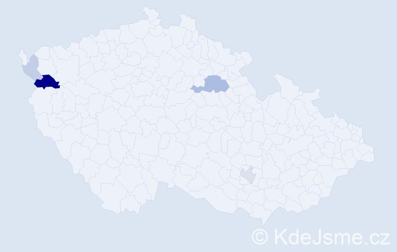 """Příjmení: '""""Abu Taha""""', počet výskytů 11 v celé ČR"""