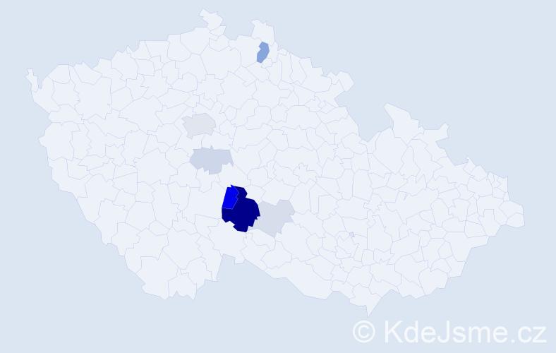 Příjmení: 'Babčická', počet výskytů 23 v celé ČR