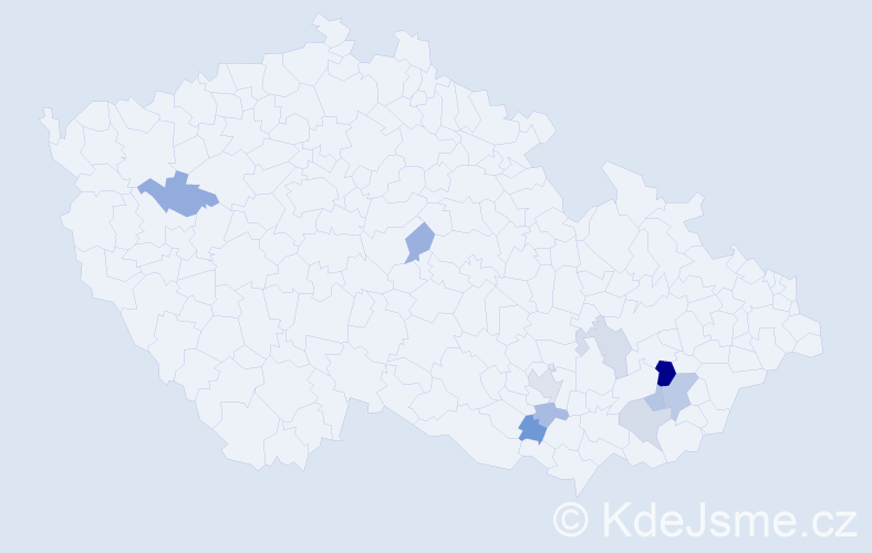 Příjmení: 'Julíček', počet výskytů 16 v celé ČR