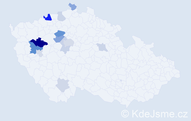 Příjmení: 'Bakajsa', počet výskytů 26 v celé ČR