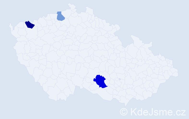Příjmení: 'Carkov', počet výskytů 4 v celé ČR