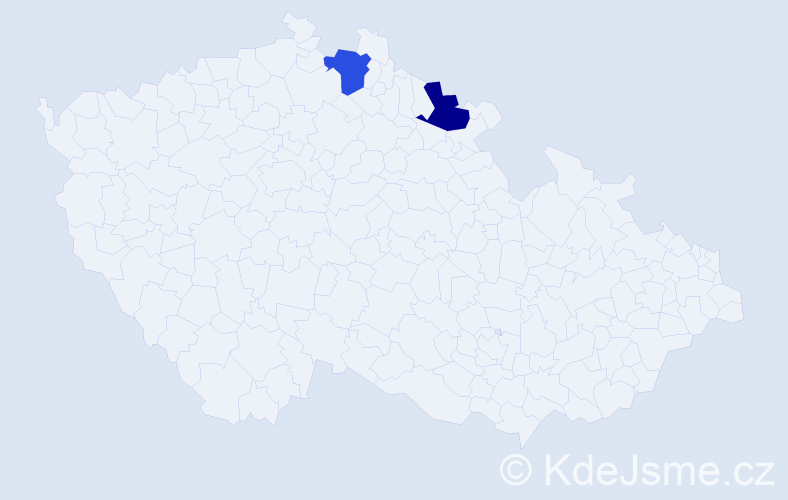 Příjmení: 'Imerlišvili', počet výskytů 2 v celé ČR