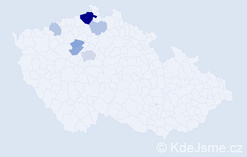 Příjmení: 'Gaudeková', počet výskytů 18 v celé ČR