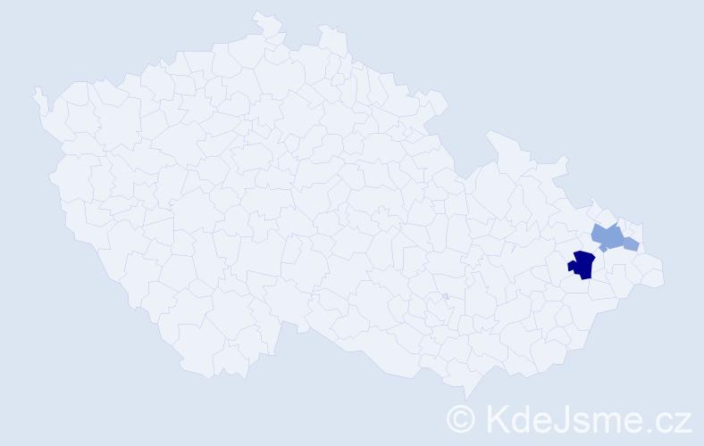 Příjmení: 'Gembíková', počet výskytů 7 v celé ČR