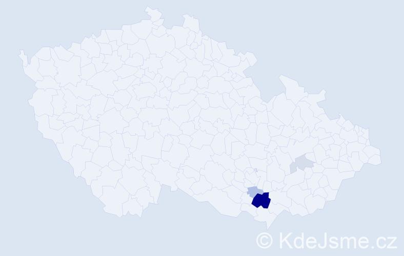 Příjmení: 'Bystrzonovský', počet výskytů 11 v celé ČR