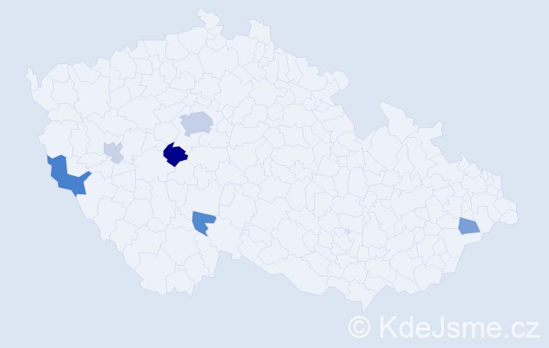 Příjmení: 'Ferrová', počet výskytů 13 v celé ČR