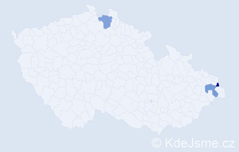Příjmení: 'Doskoč', počet výskytů 3 v celé ČR