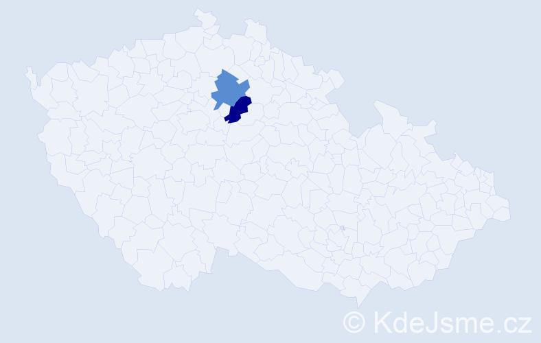 Příjmení: 'Čenkeiová', počet výskytů 2 v celé ČR