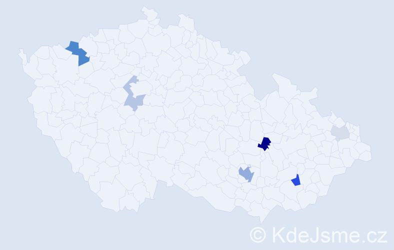 Příjmení: 'Amin', počet výskytů 11 v celé ČR