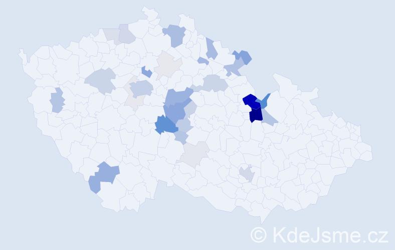 Příjmení: 'Jandejsek', počet výskytů 121 v celé ČR