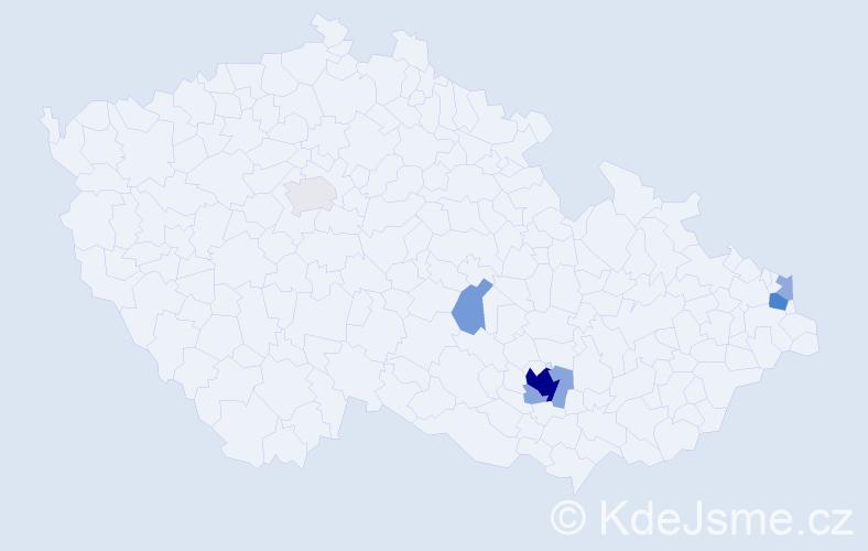 Příjmení: 'Cikrlová', počet výskytů 24 v celé ČR