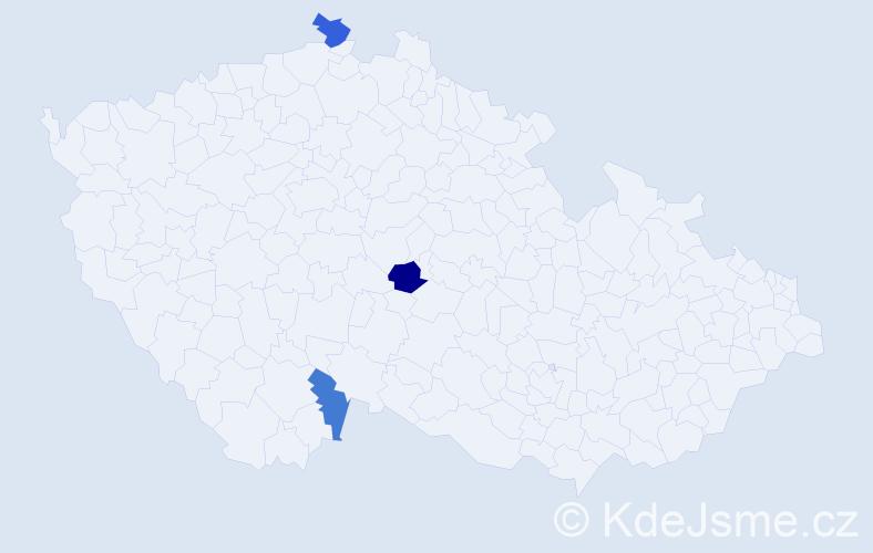 Příjmení: 'Gampe', počet výskytů 8 v celé ČR
