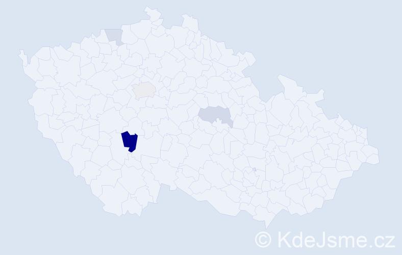 Příjmení: 'Griesl', počet výskytů 8 v celé ČR
