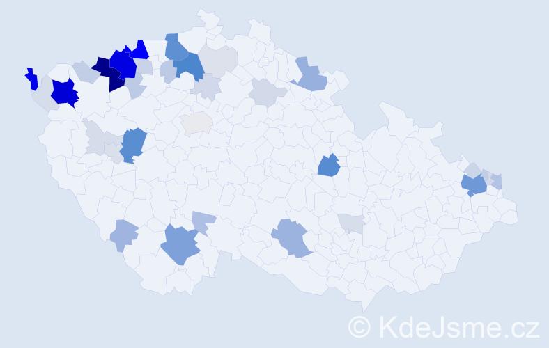 Příjmení: 'Ladičová', počet výskytů 173 v celé ČR