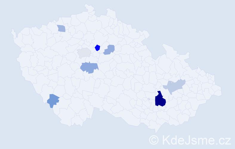 Příjmení: 'Haizler', počet výskytů 24 v celé ČR