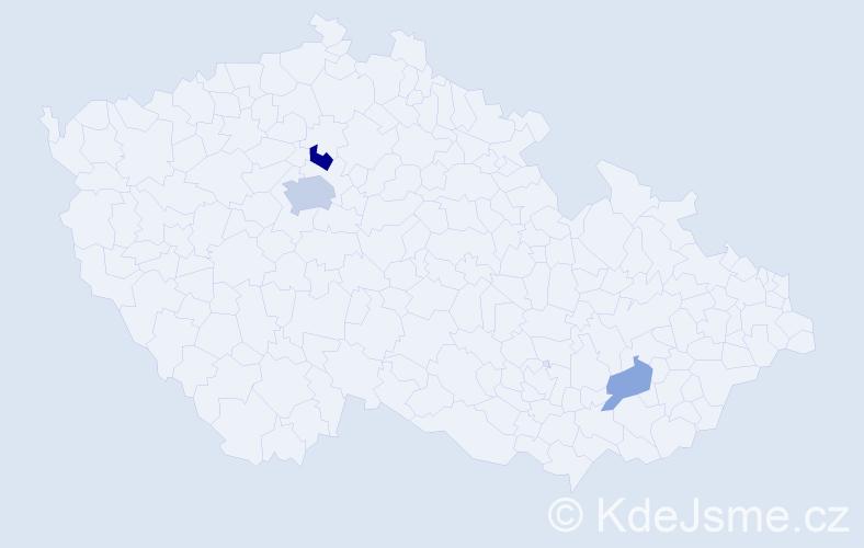 Příjmení: 'Fenton', počet výskytů 7 v celé ČR
