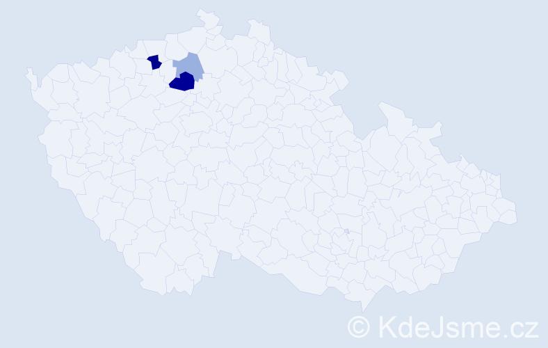 Příjmení: 'Koechr', počet výskytů 6 v celé ČR