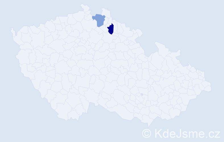 Příjmení: 'Fabianowski', počet výskytů 2 v celé ČR