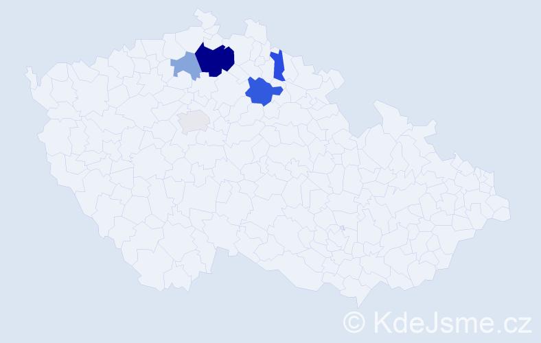 Příjmení: 'Iszwora', počet výskytů 10 v celé ČR