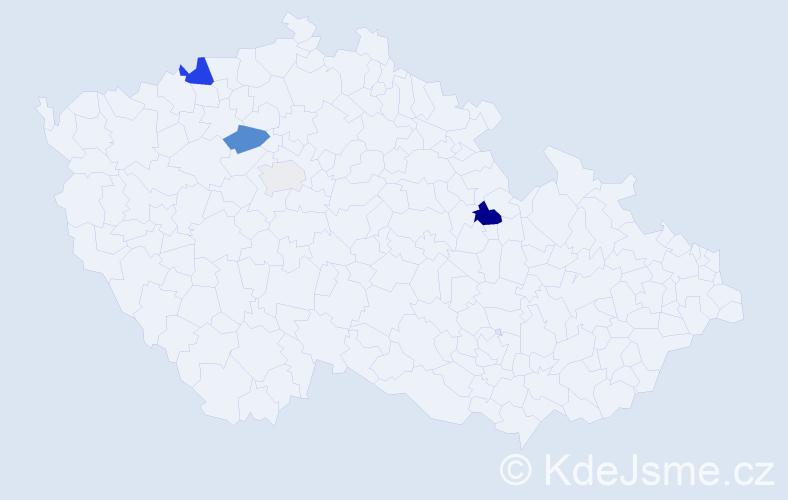 Příjmení: 'Čevonová', počet výskytů 9 v celé ČR