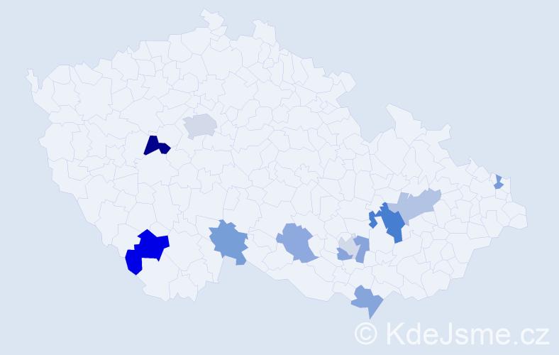 Příjmení: 'Götthansová', počet výskytů 17 v celé ČR