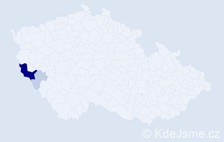 Příjmení: 'Heidtke', počet výskytů 9 v celé ČR