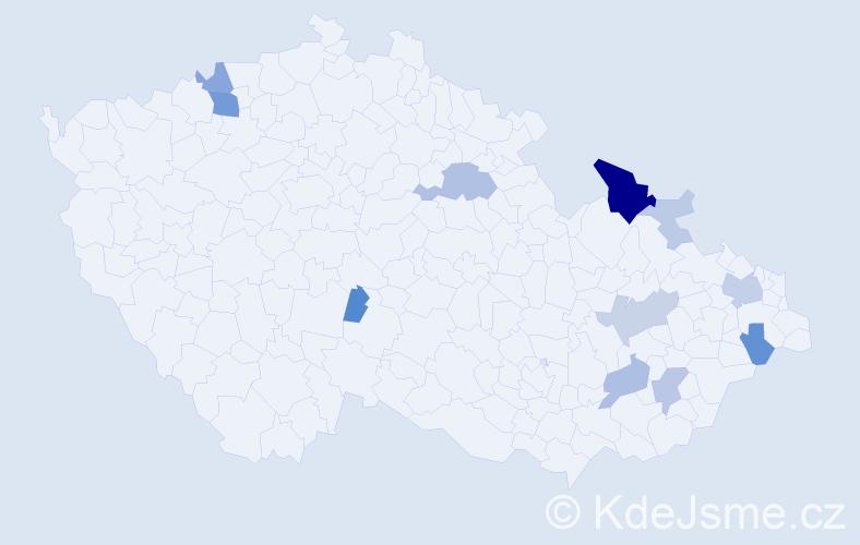 Příjmení: 'Guzejová', počet výskytů 33 v celé ČR