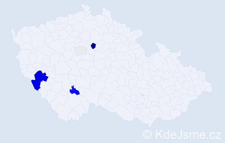 Příjmení: 'Lažánek', počet výskytů 8 v celé ČR
