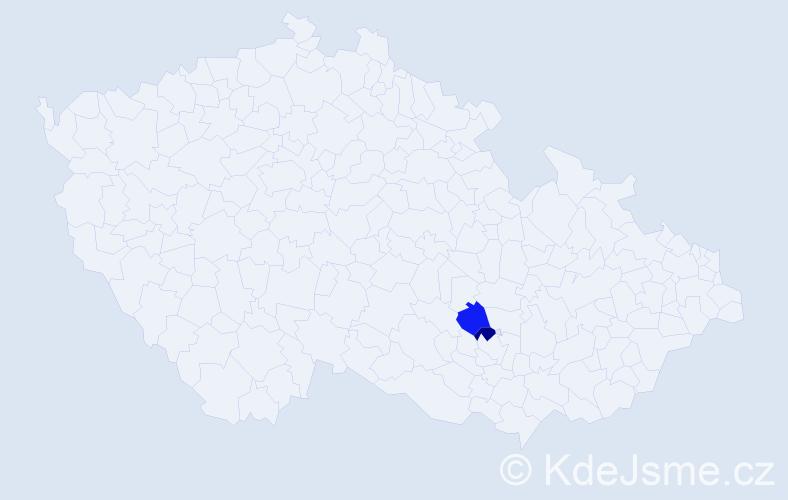 Příjmení: 'Baraš', počet výskytů 6 v celé ČR