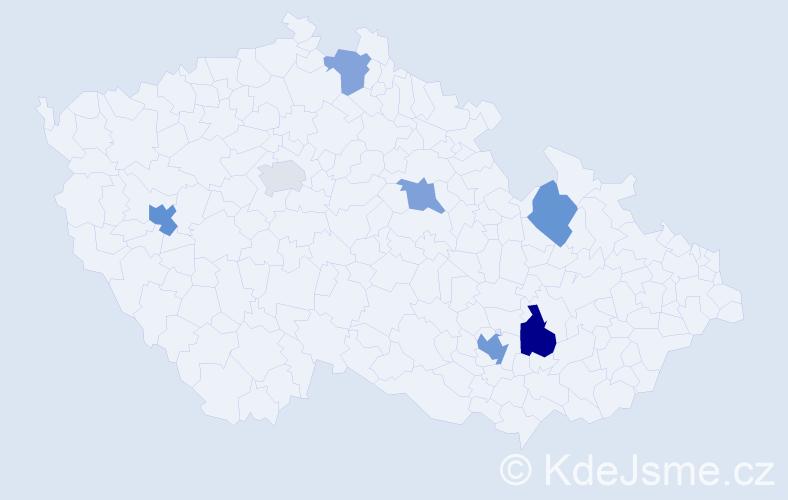 Příjmení: 'Kohler', počet výskytů 11 v celé ČR