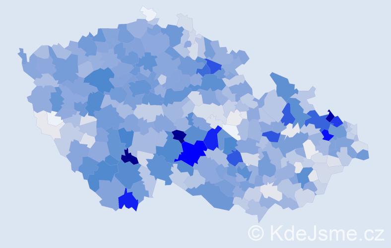 Příjmení: 'Jarošová', počet výskytů 4838 v celé ČR