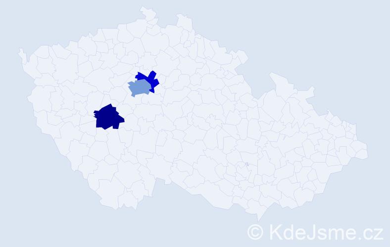 Příjmení: 'Bahbouh', počet výskytů 5 v celé ČR