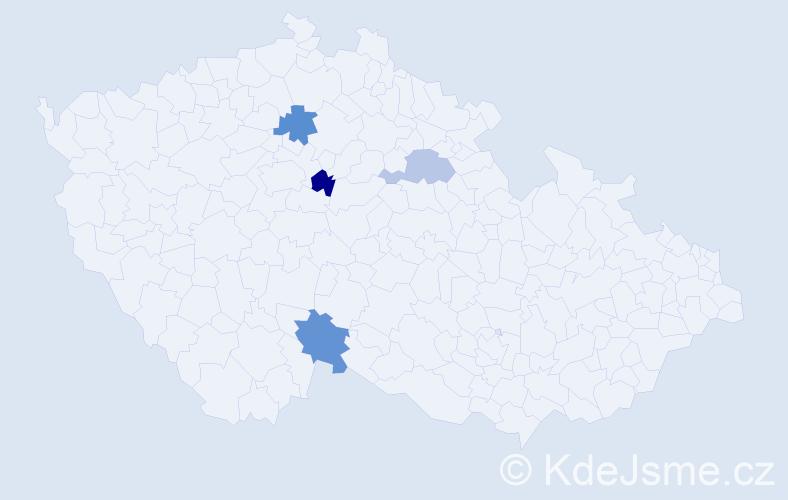 Příjmení: 'Ištvániková', počet výskytů 11 v celé ČR