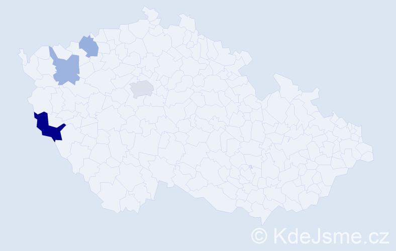 Příjmení: 'Kabůrek', počet výskytů 7 v celé ČR