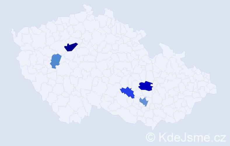 Příjmení: 'Jimramovský', počet výskytů 12 v celé ČR