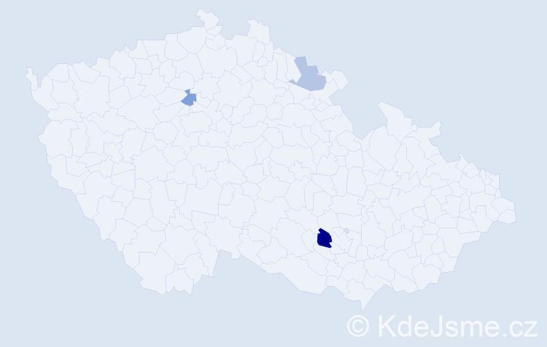 Příjmení: 'Čurmová', počet výskytů 5 v celé ČR