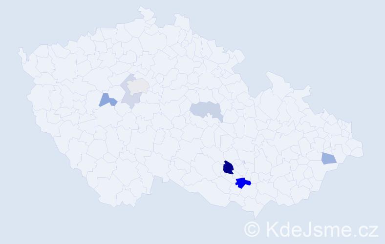 Příjmení: 'Bohunický', počet výskytů 14 v celé ČR