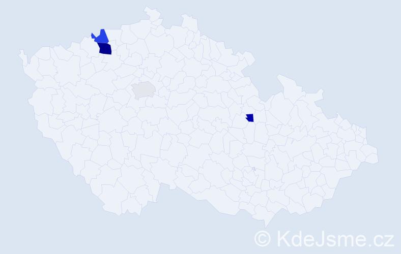 Příjmení: 'Čoreja', počet výskytů 15 v celé ČR