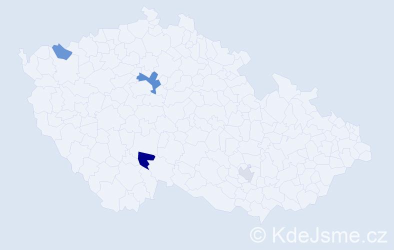 Příjmení: 'Karkušová', počet výskytů 7 v celé ČR