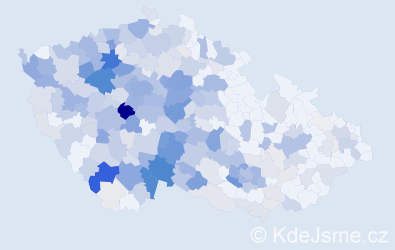 Příjmení: 'Hrbek', počet výskytů 1216 v celé ČR