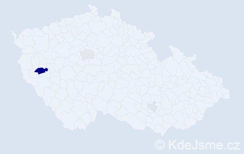 Příjmení: 'Fejka', počet výskytů 6 v celé ČR