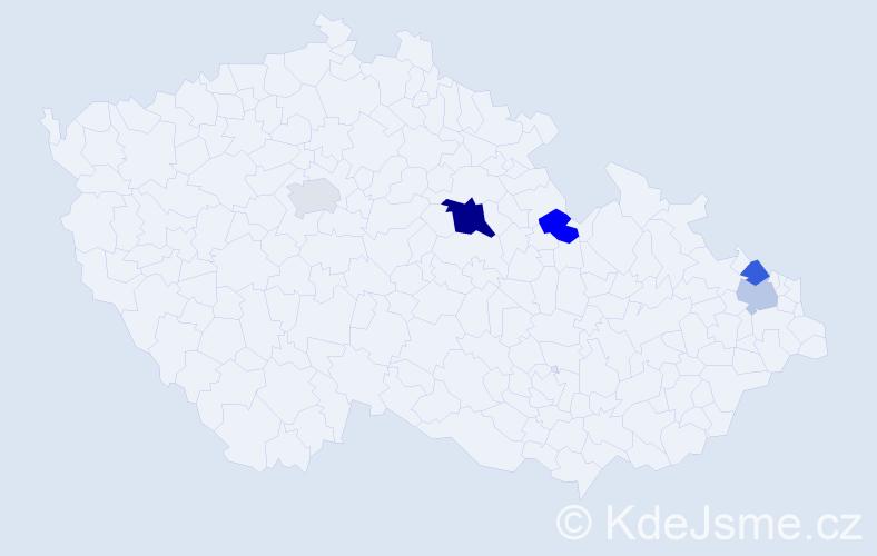 Příjmení: 'Bohovičová', počet výskytů 8 v celé ČR