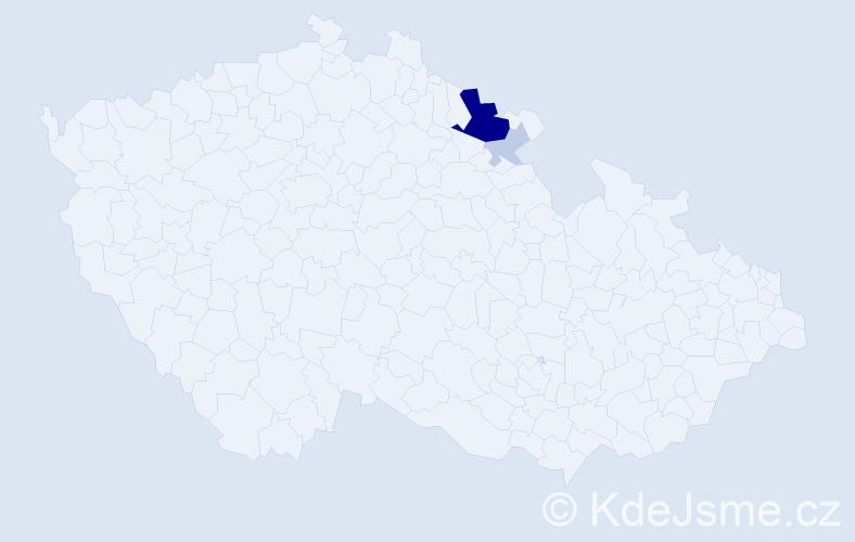 Příjmení: 'Ilchmann', počet výskytů 11 v celé ČR