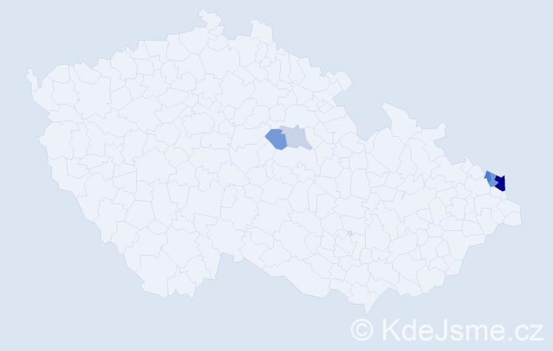 Příjmení: 'Knispel', počet výskytů 15 v celé ČR